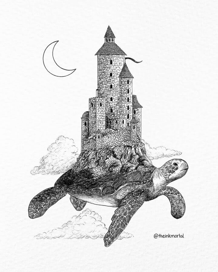 08-The-turtle-and-the-castle-The-Inkmortal-www-designstack-co