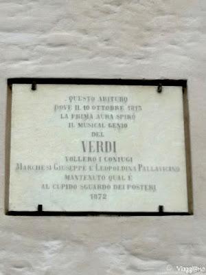 Targa della Casa Natale di Giuseppe Verdi