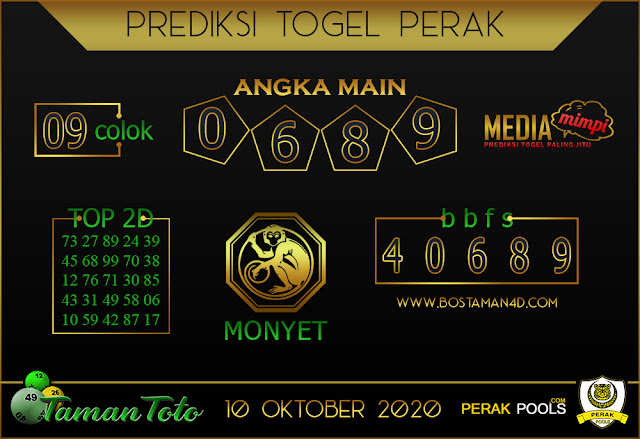 Prediksi Togel PERAK TAMAN TOTO 10 OKTOBER 2020