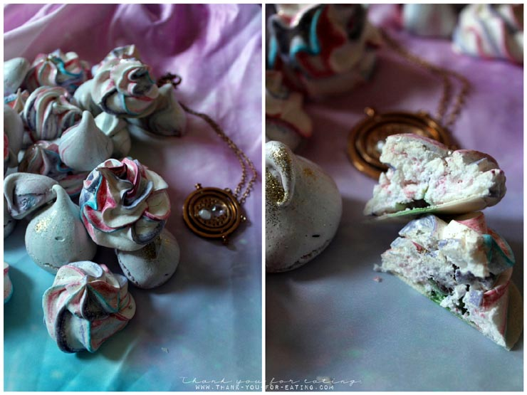 Galaxy Meringue Kisses - Rezept