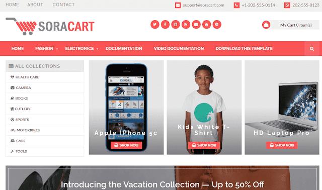 Chia sẻ mẫu SoraCart Blogger Template