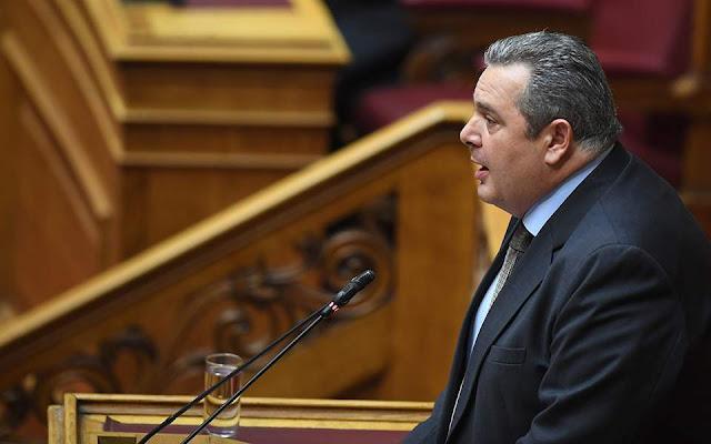 Βαριές κατηγορίες Π. Καμμένου στη Βουλή κατά Κοτζιά
