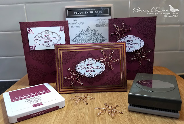 Flourish Filigree, Rhapsody in craft, Christmas cards, DIY cards, Heart of Christmas