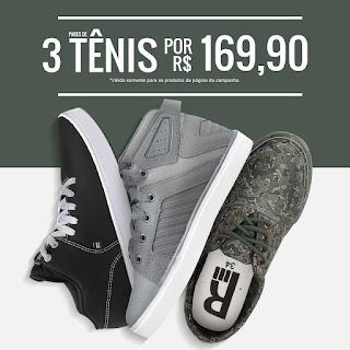 Promoção 3 Tênis por R$169 na Kanui