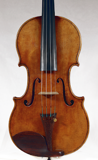 Copy of a Stradivari Violin Top plate by Nicolas Bonet Luthier - Table d'un violon en copie de Stradivarius par Nicolas Bonet Luthier