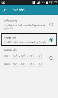 Set google Dns