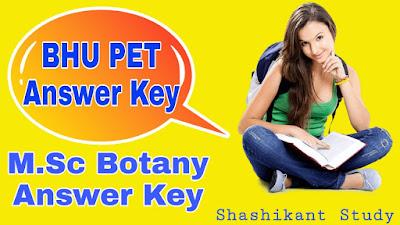 BHU-M.Sc-Botany-answer-key