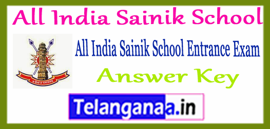 All India Sainik School Entrance 2018 Answer Key Result