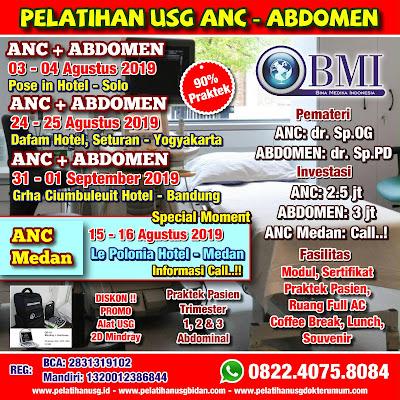 Pelatihan USG ANC dan ABDOMEN di Kota Surabaya