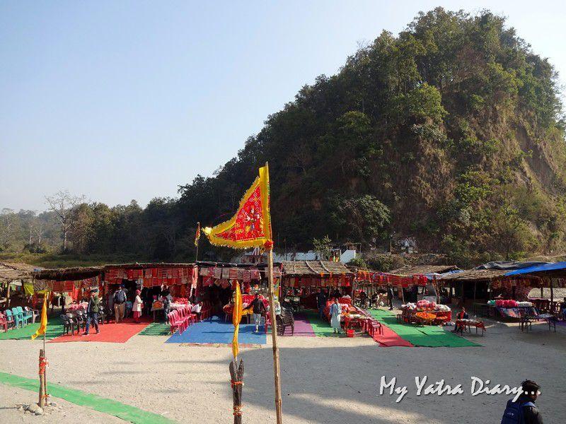 Shops around the Garjiya Devi Shakti Temple Uttarakhand