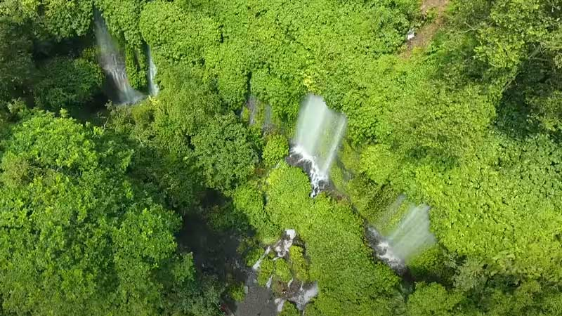 Air Terjun di Lombok Tengah