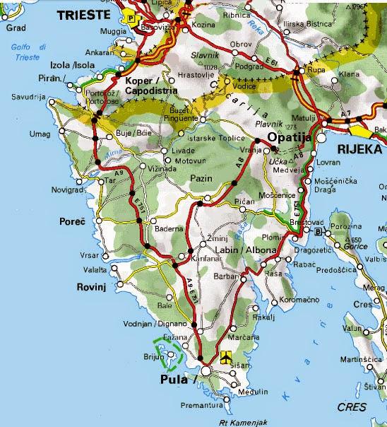 Istrien Karte Rabac.Hotels In Istrien Karte