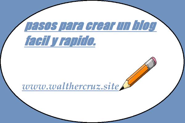 Como crear un blog facil y rapido