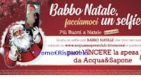 Logo  ''Babbo Natale Facciamoci un Selfie'' : gratis buoni da 100€ Acqua&Sapone