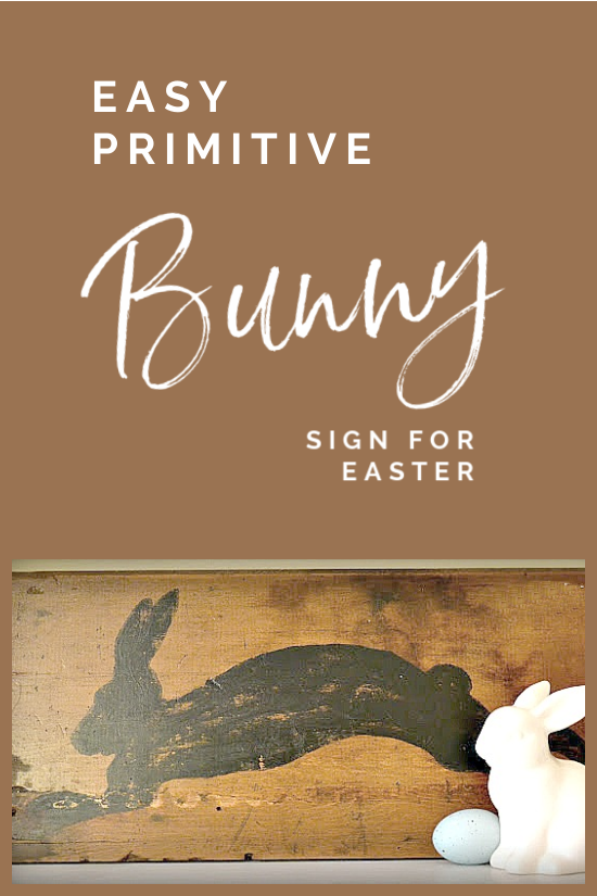 primitive bunny sign with overlay
