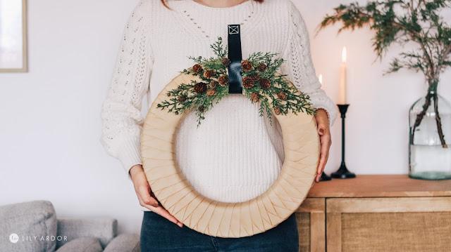 diy leather christmas wreath