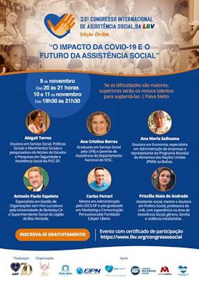 Especialistas discutem o impacto da Covid-19 e o futuro da Assistência Social