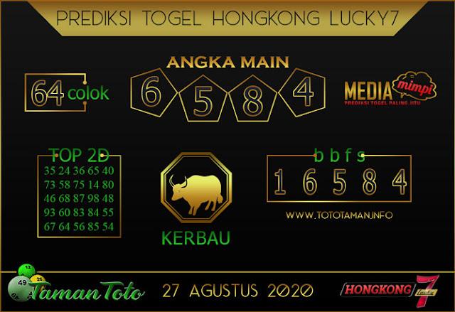 Prediksi Togel HONGKONG LUCKY 7 TAMAN TOTO 27 AGUSTUS 2020