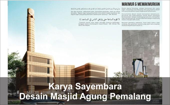 desain masjid agung pemalang