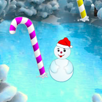 BigEscape Christmas Candy Cane Forest Escape