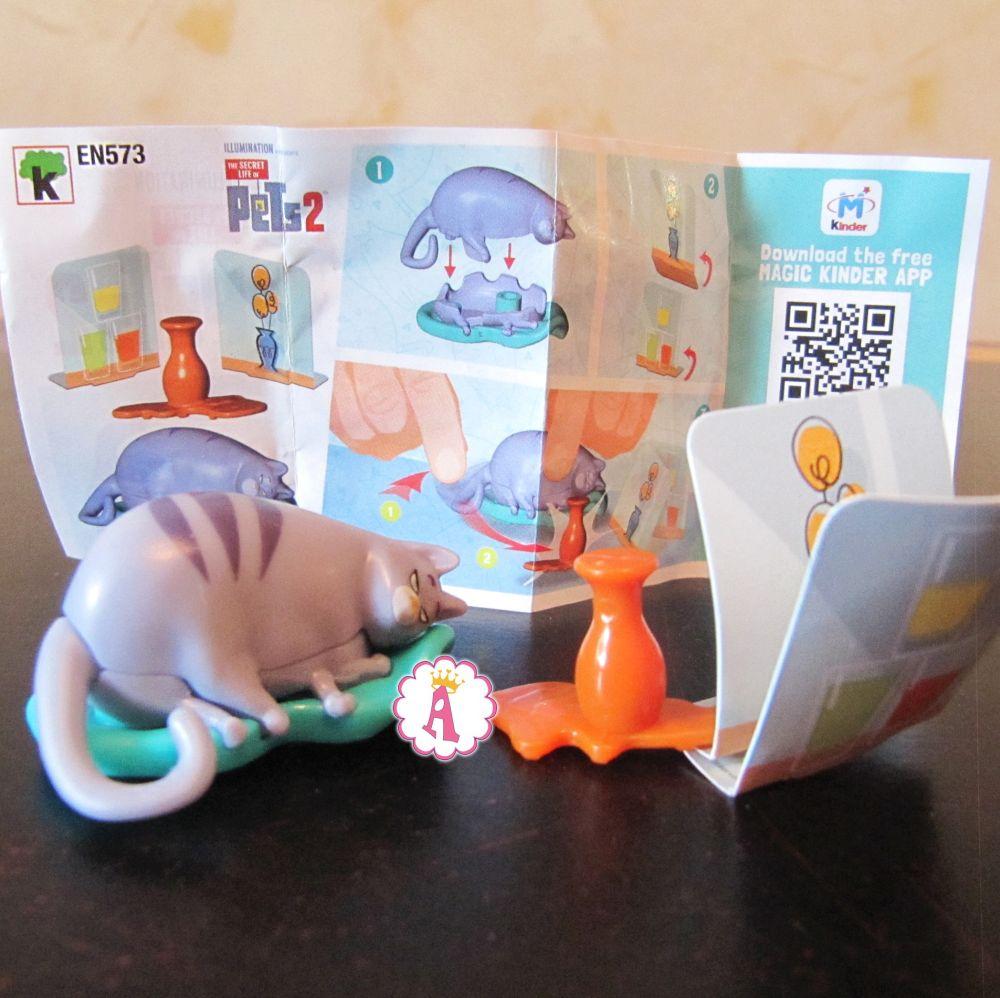 Хлоя кошка киндер сюрприз Тайная жизнь домашних животных 2 коллекционный номер EN573