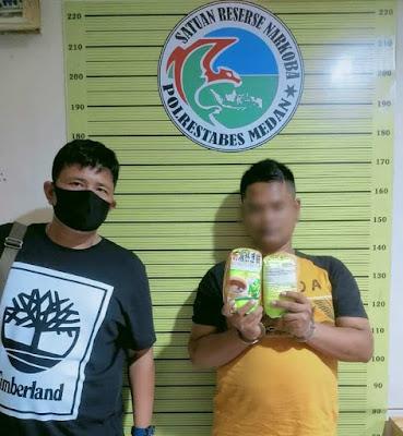 Satres Narkoba Polrestabes Medan Berhasil Ringkus 2 Pria Bandar Narkotika Jenis Sabu dan Pil Ekstasi