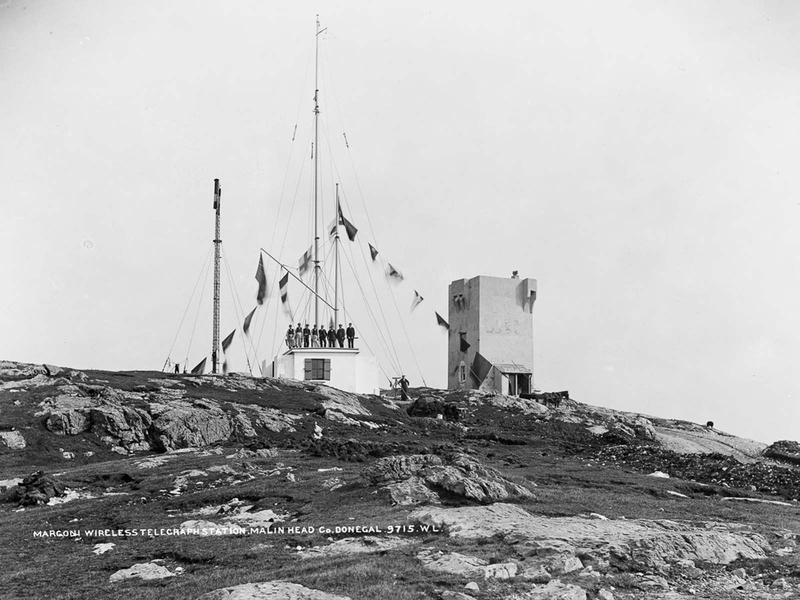 Marconi Wireless Telegraph Station, Malin Head, County Donegal. 1902.