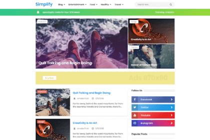 New Simplify 2019 Responsive Blogger Template Premium