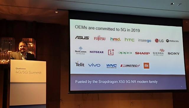 Qualcomm sẽ ra mắt chip Snapdragon X50 vào đầu năm 2019
