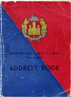 Address Book: 164 Battery, 59th Regiment ex-servicemen WW2
