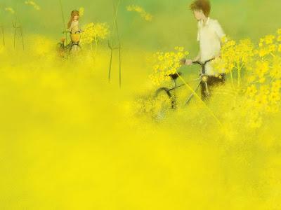 Tháng bảy , hoa cúc vàng màu nắng