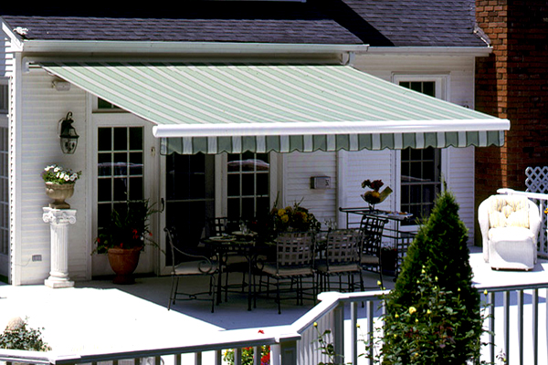 Retractable Awnings Are Weather Proof Fabric Shades Attached To The Side Of  A House. They Can Either Be Opened Via A Manual Crank Or Motorized System.