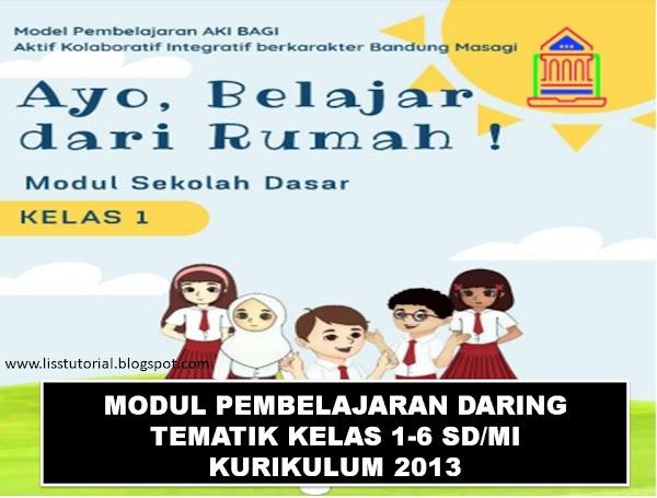 Modul Pembelajaran Daring Tematik Kelas 1 SD/MI Kurikulum 2013