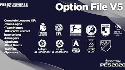 Option File | PES Universe v5 | PES 2020 | PS4