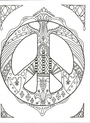 Kay Larch Studios Peace Sign Art Coloring Books