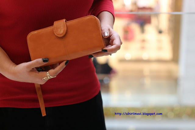 clutch, cüzdan, blog, blogger, taba, sihirlimavi, blog, blogger