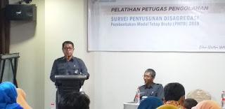 Kepala BPS Provinsi Jambi Buka Pelatihan Petugas Pengolahan Survei Penyusunan disagregasi PMTB.