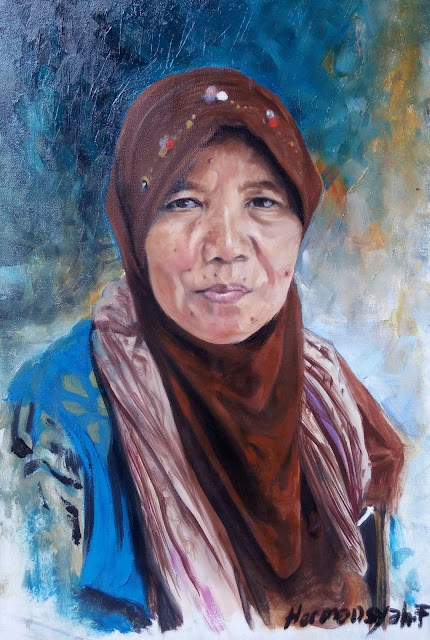 Portrait Painting of a Javanese Woman