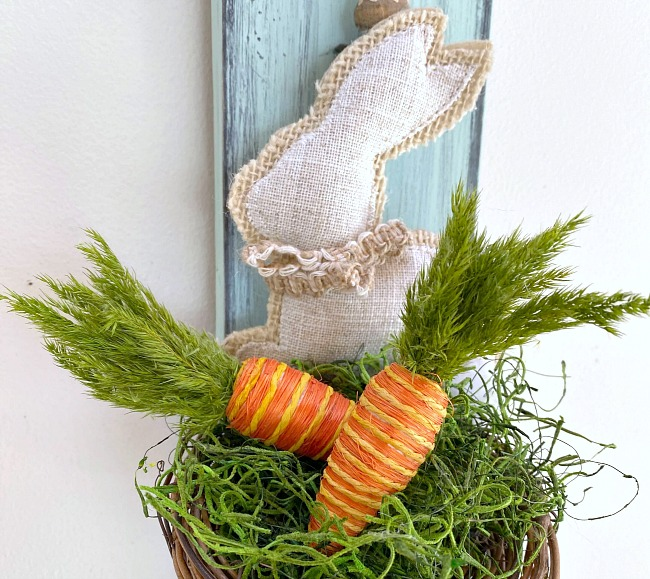 Vintage Ladle Bunny Nest for Spring with Things from Home
