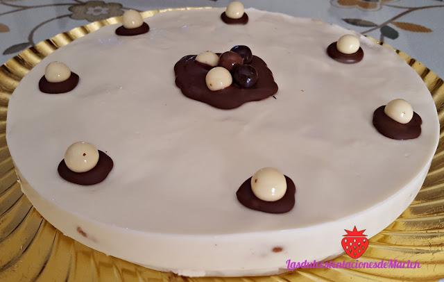 Tarta De Chocolate Blanco Y Galletas