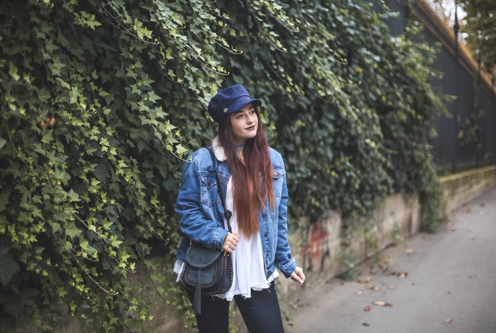 veste en jean fourrée blog mode