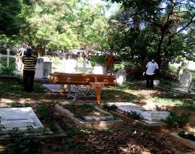 Kilifi Woman who died of coronavirus buried. PHOTO | BMS