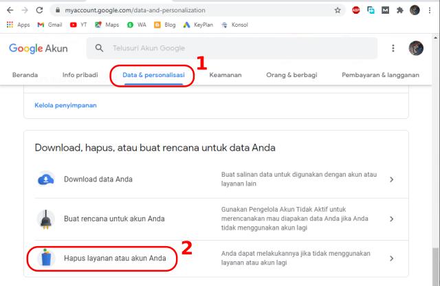 Cara Menghapus Akun Gmail dan Ymail Dengan Mudah