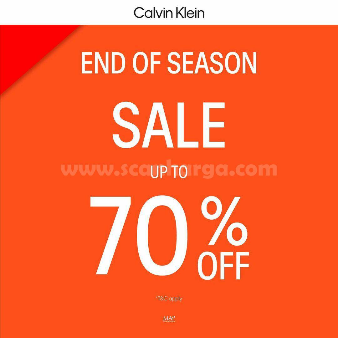 Calvin Klein End of season sale up to 70% OFF