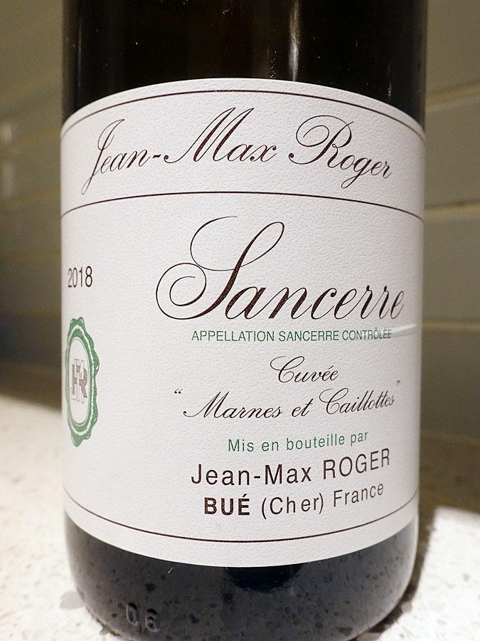 Jean-Max Roger Cuvée Marnes et Caillottes Sancerre 2018 (92 pts)