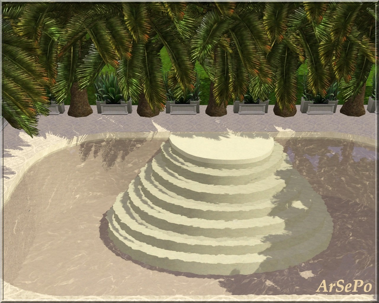 Empire Sims 3 Pool Stairs by ArSePo