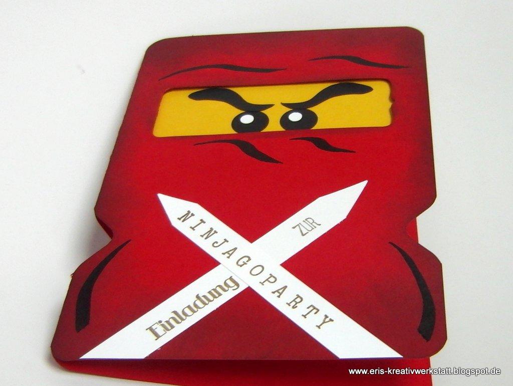 "eri's kreativwerkstatt: ""ninjago""-einladungskarten im 5er pack"