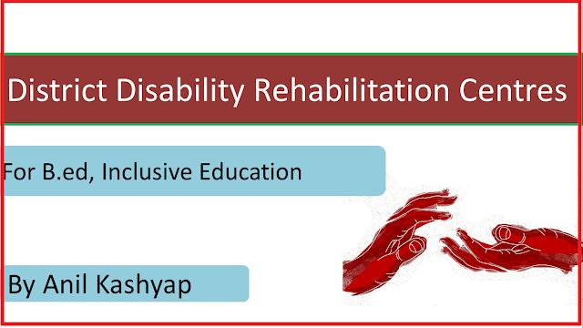 District Disability Rehabilitation Centres, DDRC, B.ed, creating an inclusive school, www.educationphile.com