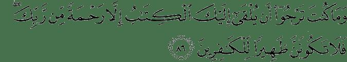 Surat Al Qashash ayat 86