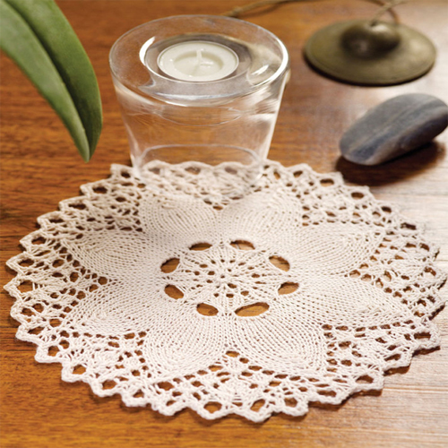 Knit Flower Doily - Free Pattern